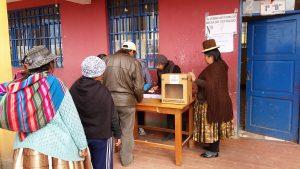 Wählerinnen in El Alto