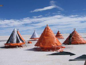 Verdampfungskegel: Alternative Technologie zu den Becken der GNRE (Foto: Jaime Claros)